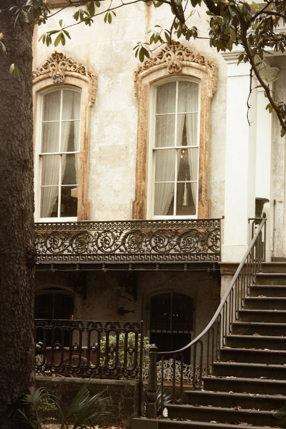 Beautiful ironwork in Savannah, Georgia
